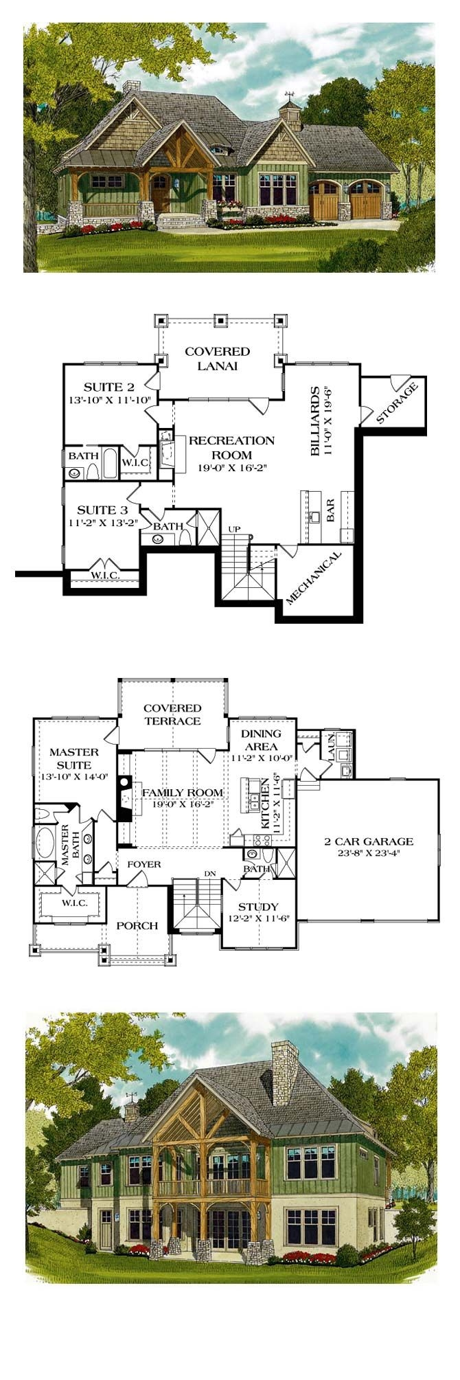 Rustic Mountain House Plans with Walkout Basement Inspirational Bungalow Style House Plan Number with 3 Bed 4 Bath 2 Car