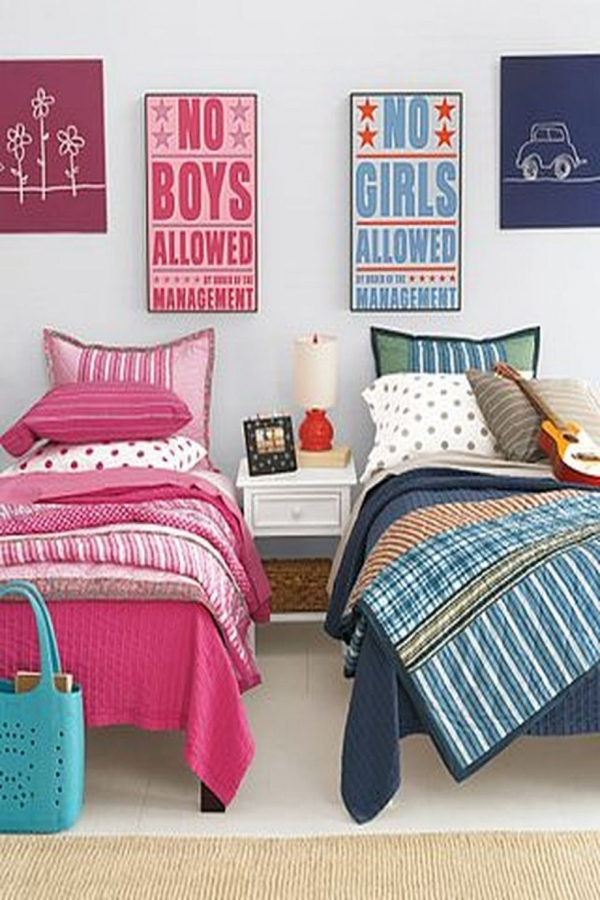 85 Awesome Bedroom Boy and Girl Decorating Ideas-3891