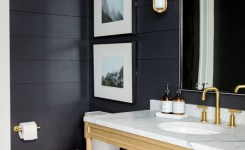 Modern Mountain Home Tour Master Wing Bathrooms