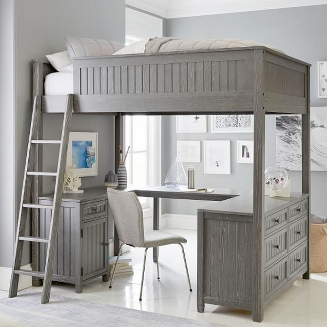 30+ Bunk Beds Design Ideas With Desk Areas Help To Make Compact Bedrooms Bigger 19