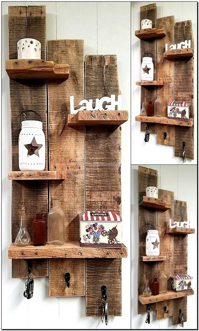 Permalink to 99 Fantastic Models of wooden pallet shelves for your woodworking Project  inspiration