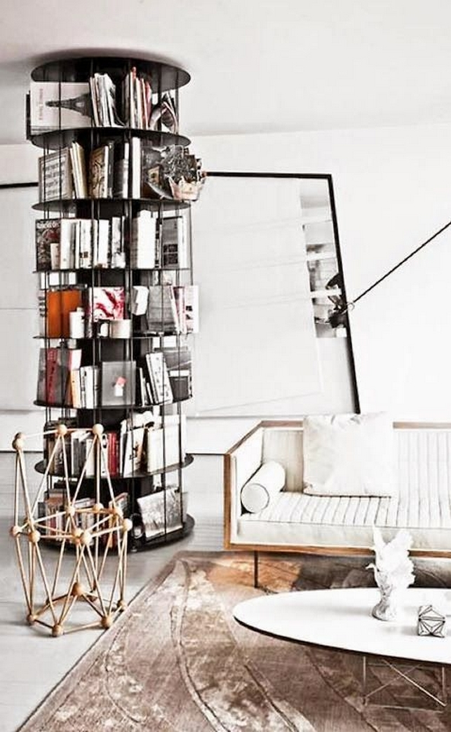 89 Models Beautiful Circular Bookshelf Design For Complement Of Your Home Decoration 14