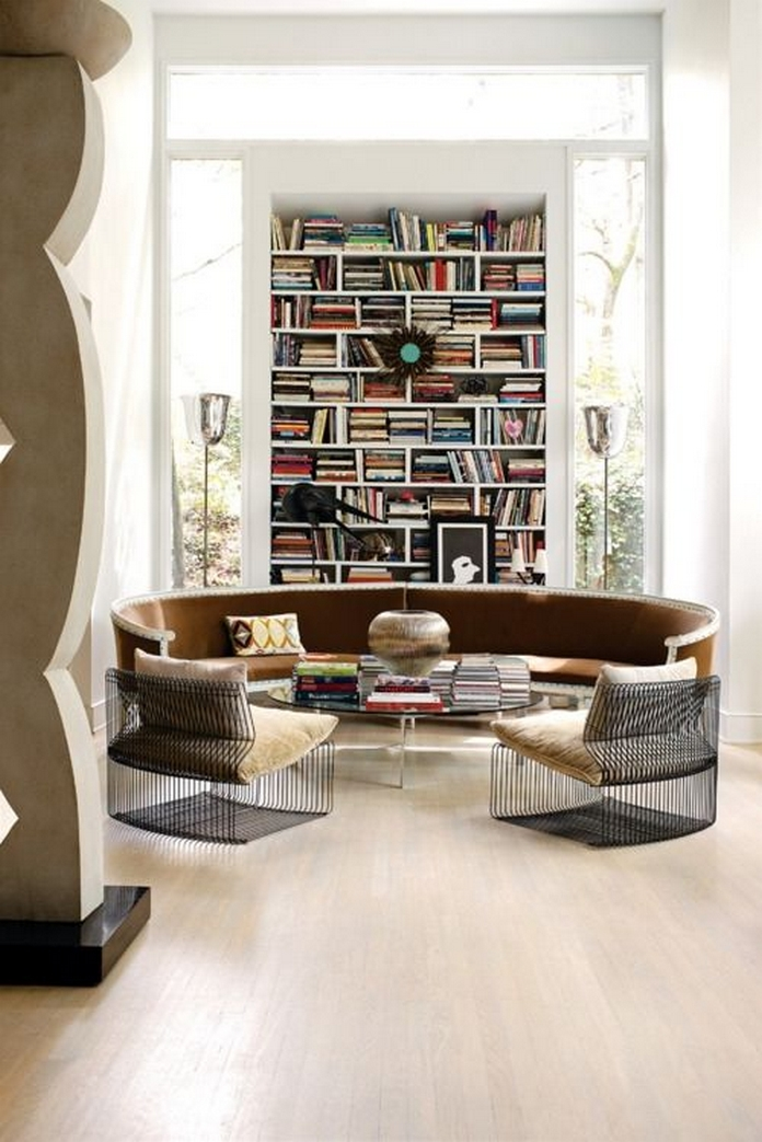 89 Models Beautiful Circular Bookshelf Design For Complement Of Your Home Decoration 21