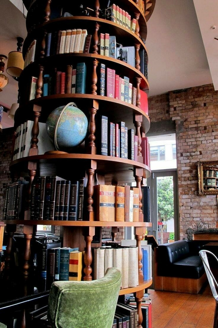 89 Models Beautiful Circular Bookshelf Design For Complement Of Your Home Decoration 27