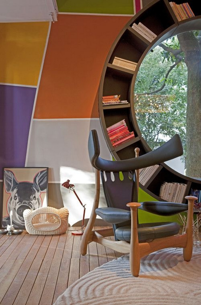 89 Models Beautiful Circular Bookshelf Design For Complement Of Your Home Decoration 65