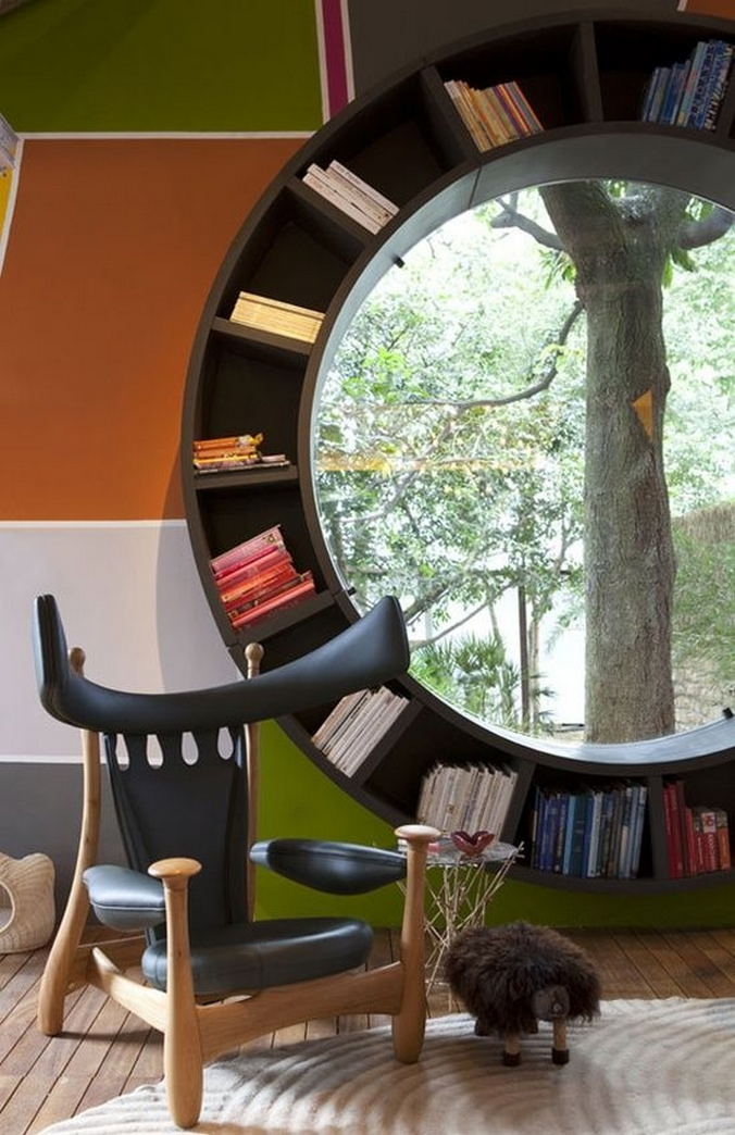 89 Models Beautiful Circular Bookshelf Design For Complement Of Your Home Decoration 9