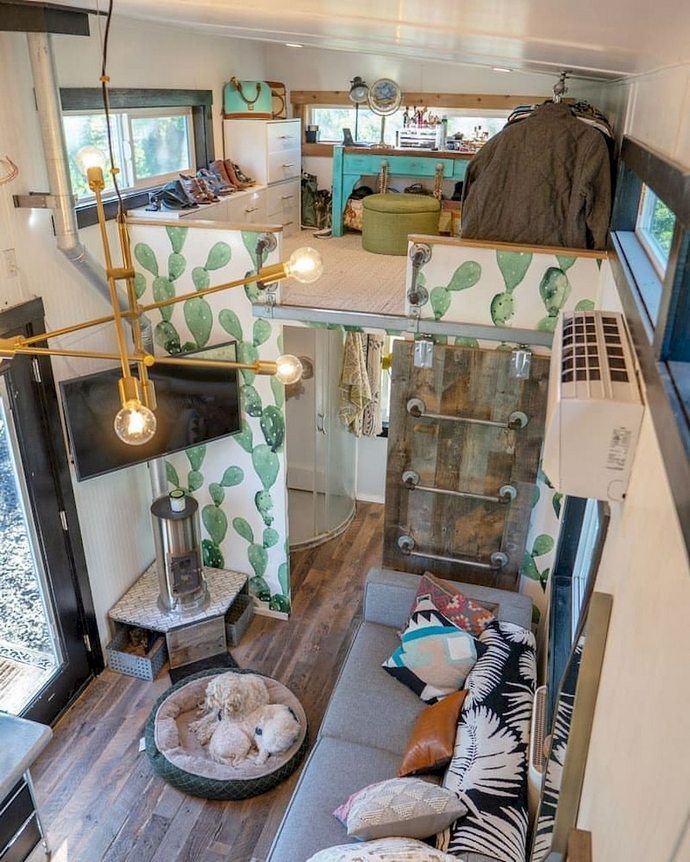 97 Cozy Tiny House Interior Are You Planning For Enough Storage 70