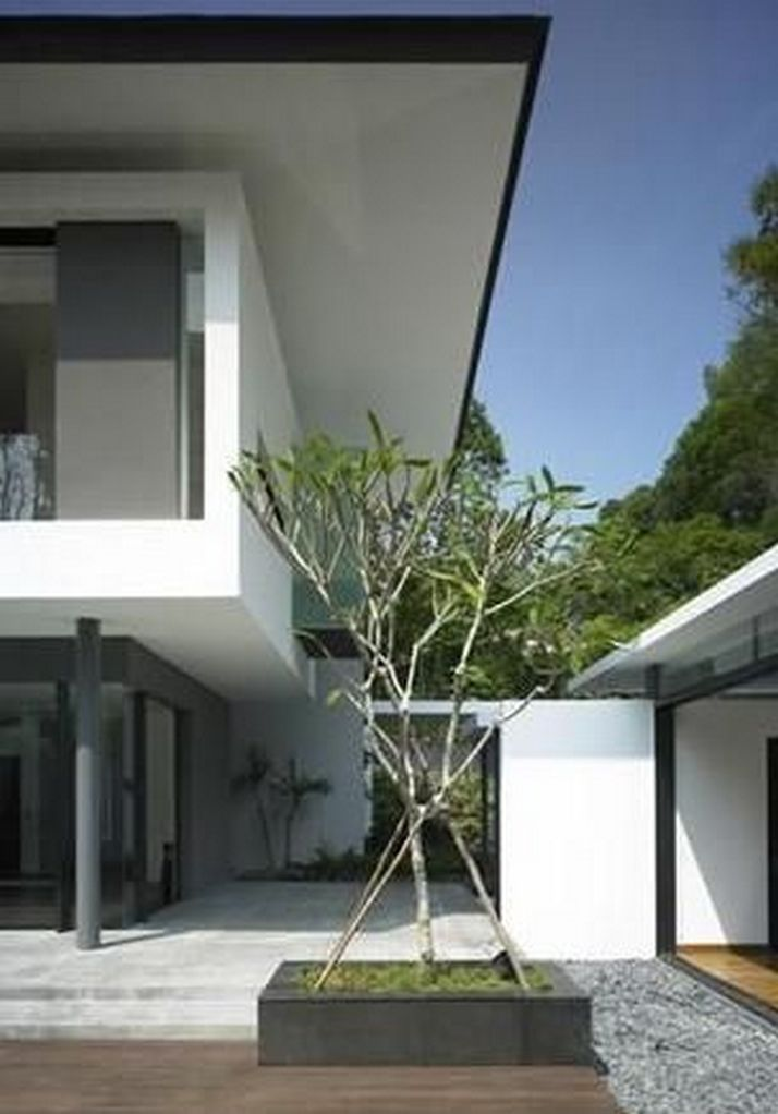 70+ Most Popular Modern Flat Roof House Design 1