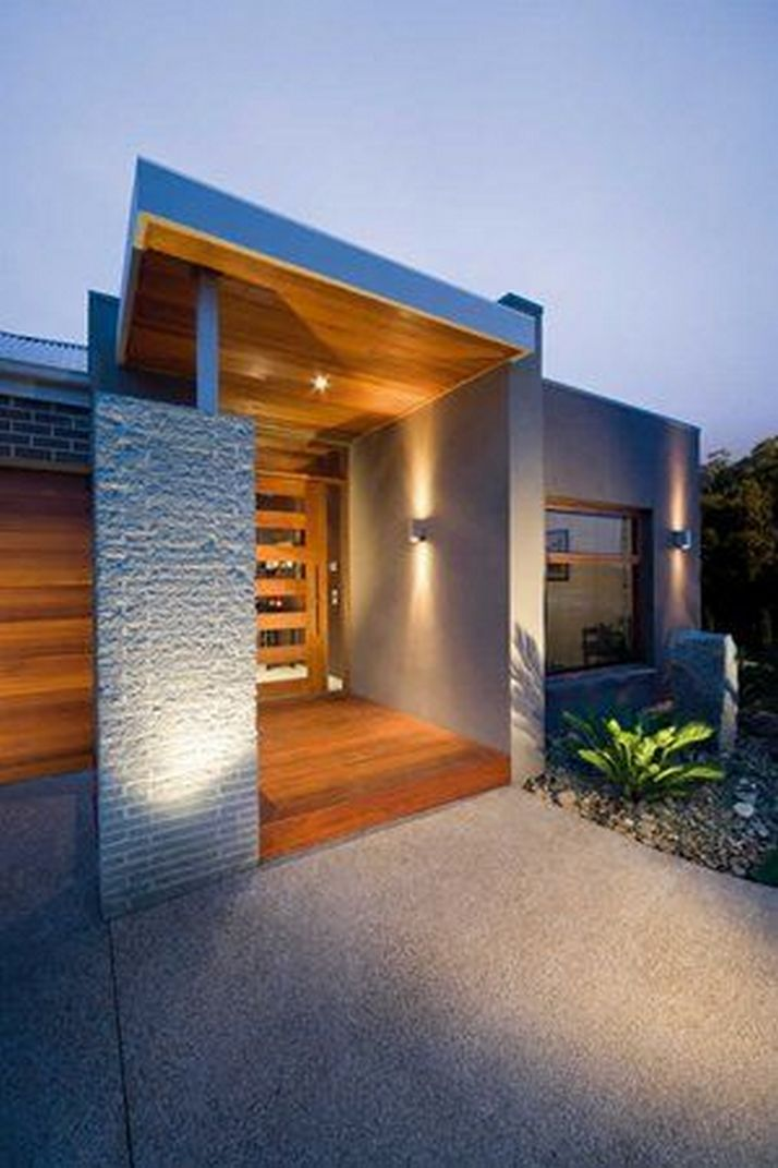 70+ Most Popular Modern Flat Roof House Design 70