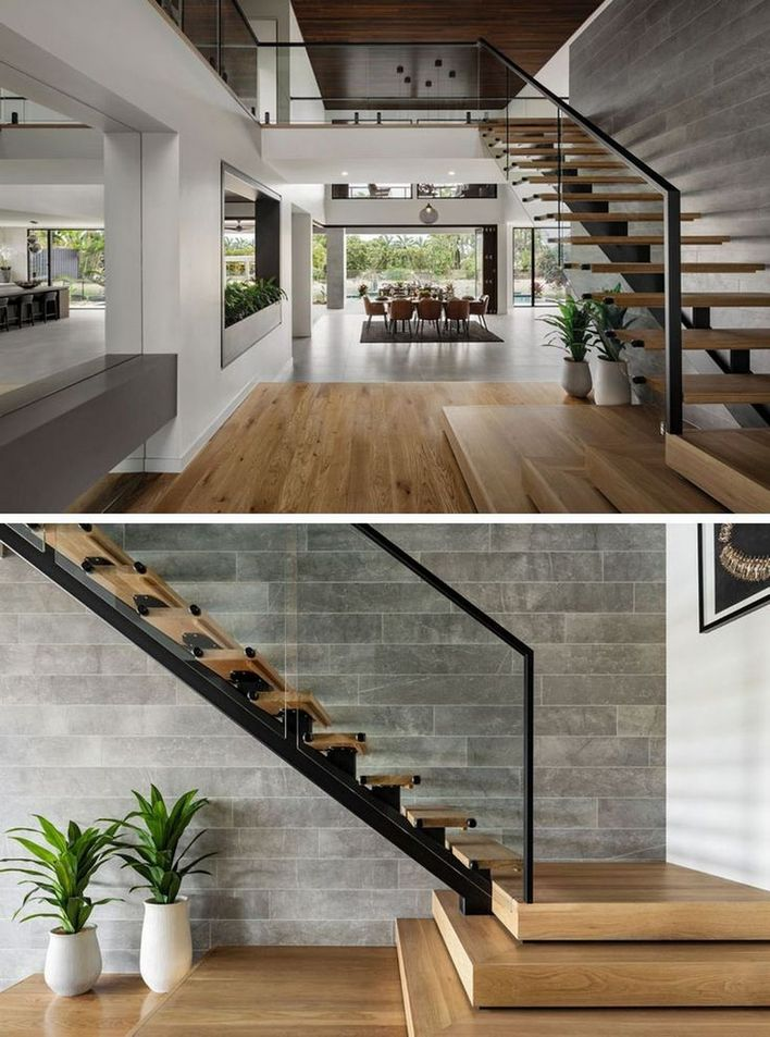 95 Cool Modern Staircase Designs For Homes (28)