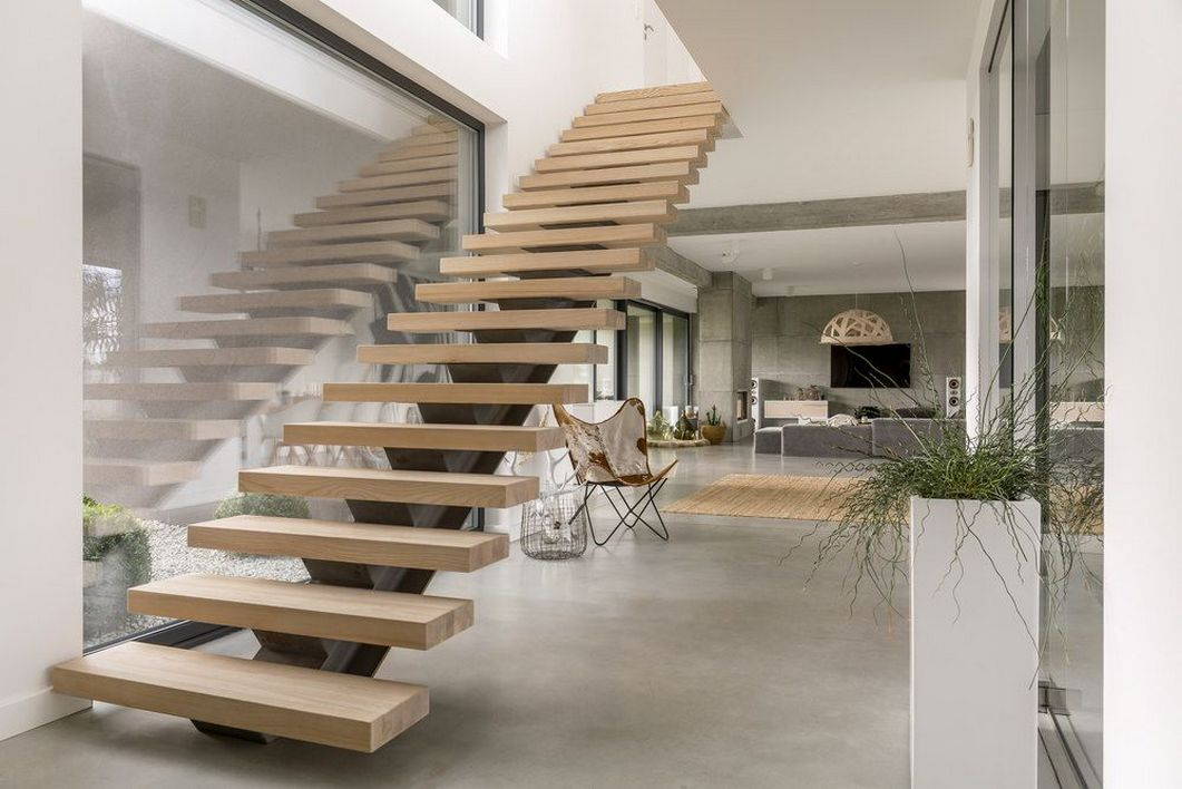 95 Cool Modern Staircase Designs For Homes (3)