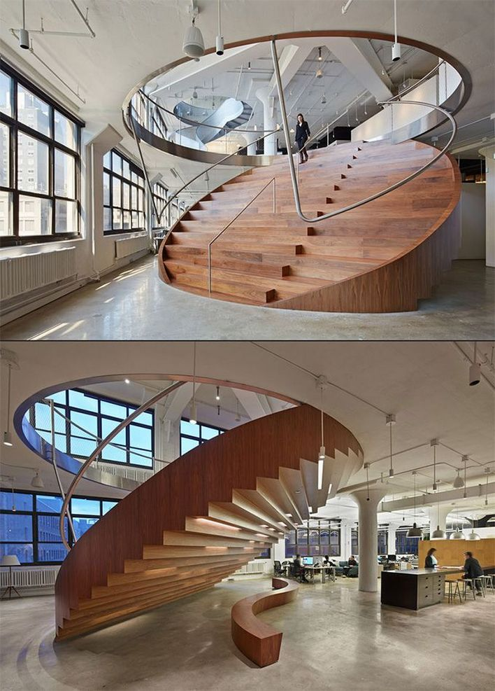 95 Cool Modern Staircase Designs For Homes (44)