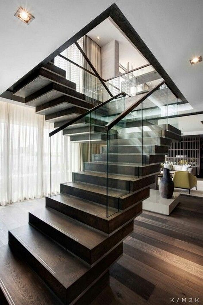 95 Cool Modern Staircase Designs For Homes (5)