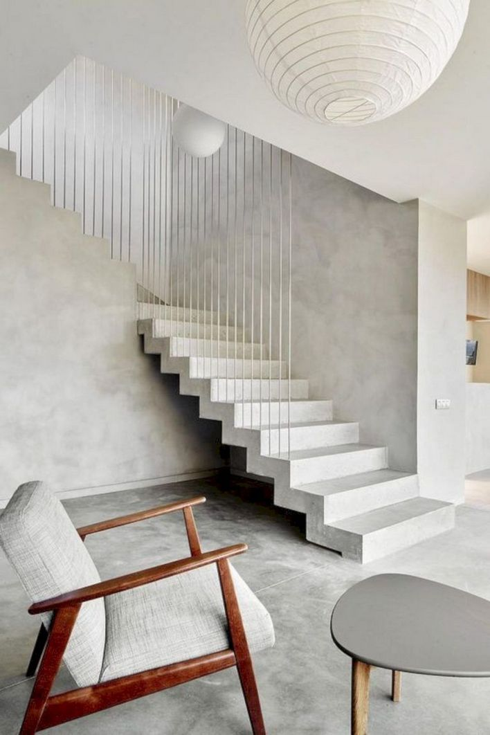 95 Cool Modern Staircase Designs For Homes (73)