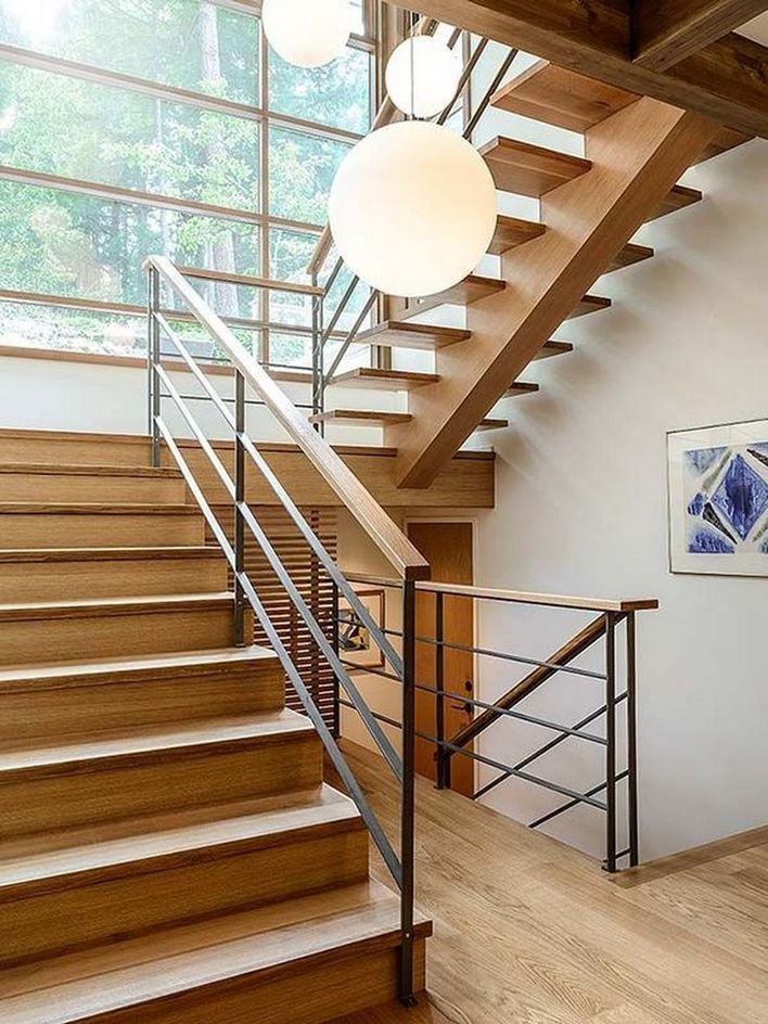 95 Cool Modern Staircase Designs For Homes (75)