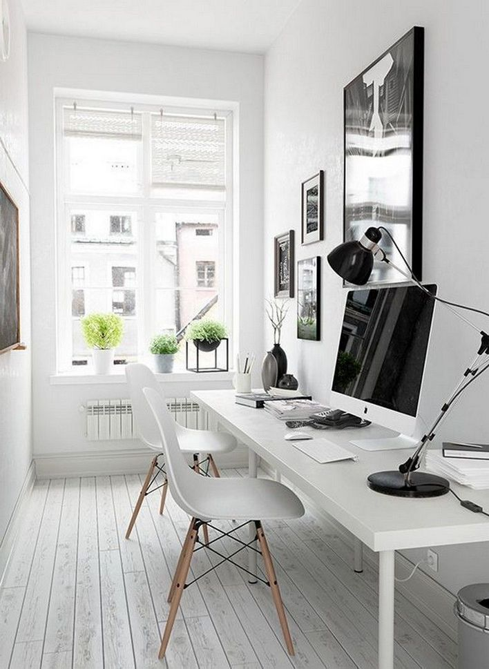 96 Modern Home Office Design Looks Elegant 22