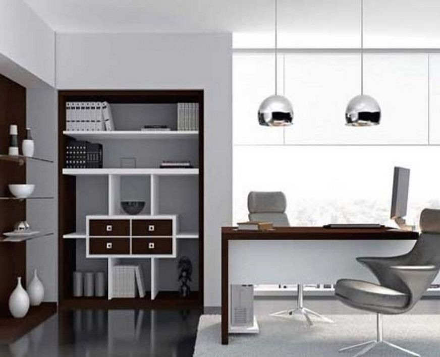 96 Modern Home Office Design Looks Elegant 61