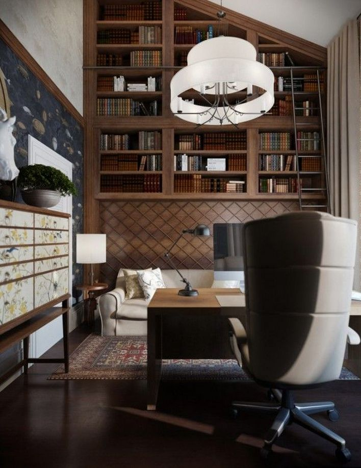 96 Modern Home Office Design Looks Elegant 72