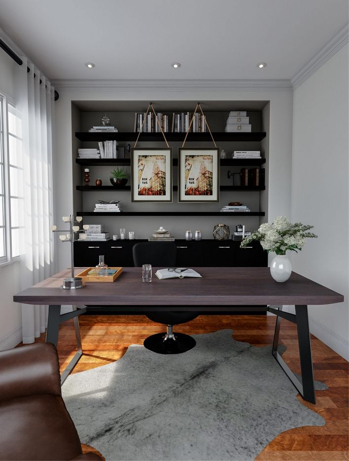 96 Modern Home Office Design Looks Elegant 9