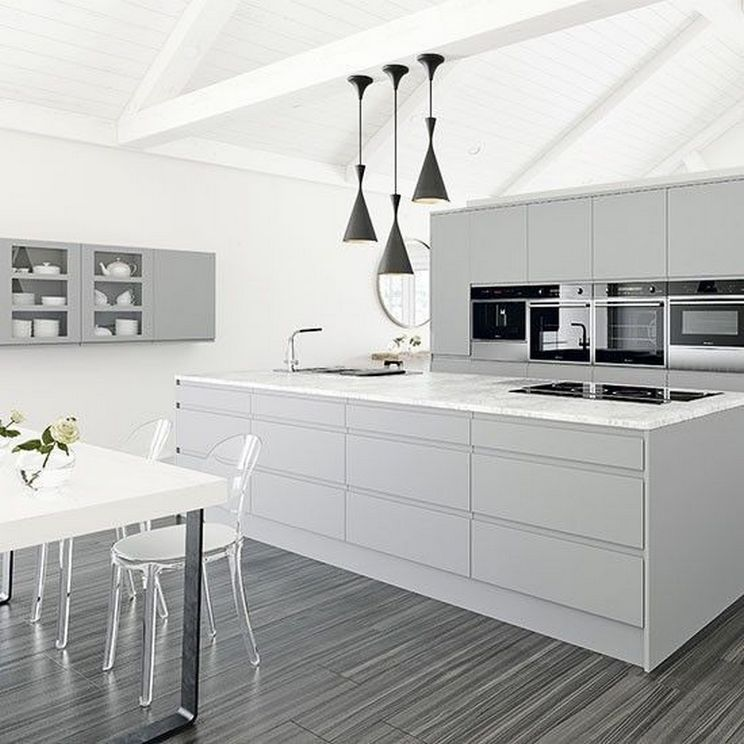 Beautifull Totally Modern Black And White Kitchen 13