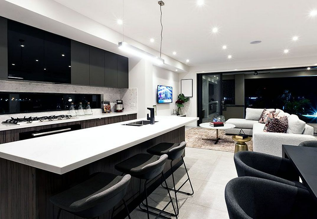 Beautifull Totally Modern Black And White Kitchen 34