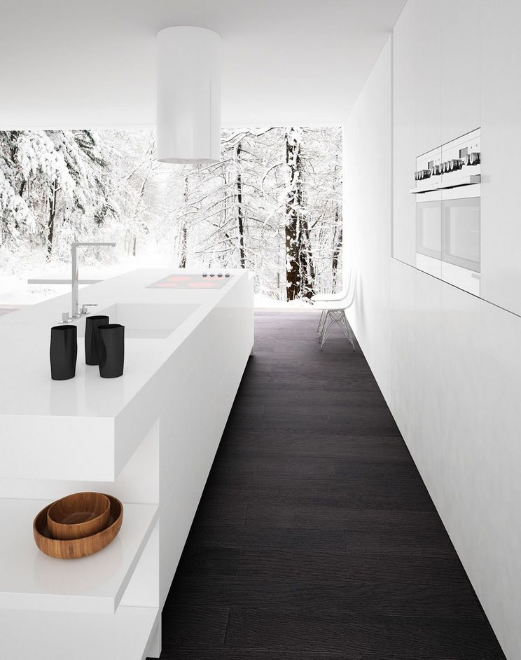 Beautifull Totally Modern Black And White Kitchen 48