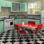Tips For Creating Beautiful Black Or White Retro Themed Kitchens 46