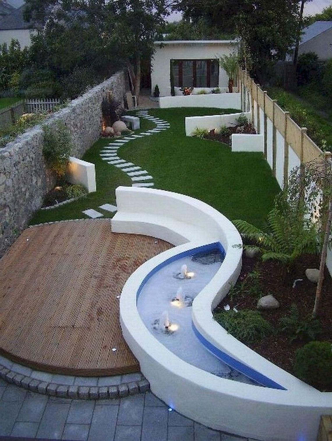 91 Small Backyard Landscape Decoration Models Are Simple And Look Creative 31