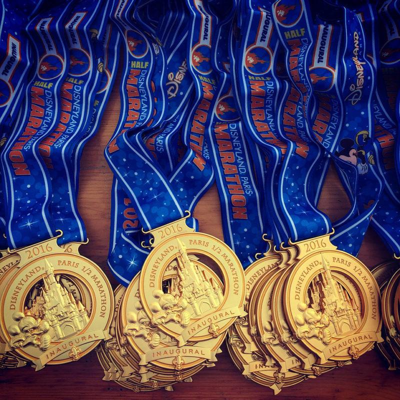RunDisney Disneyland Paris halve marathon medailles