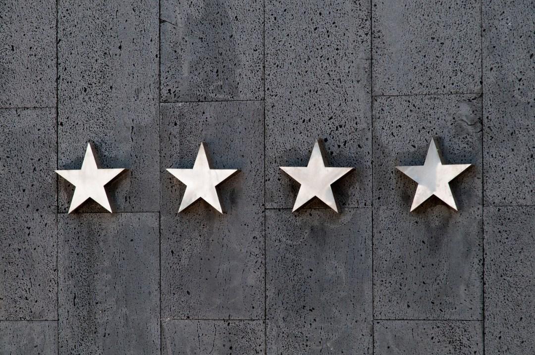4 sterren bij een hotel: een goede review?
