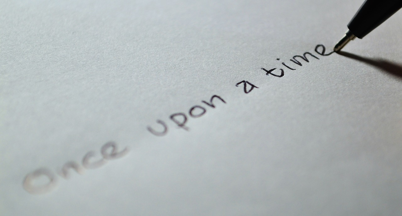 """""""once upon a time..."""". Ik zou nog weleens verhalen willen leren schrijven."""