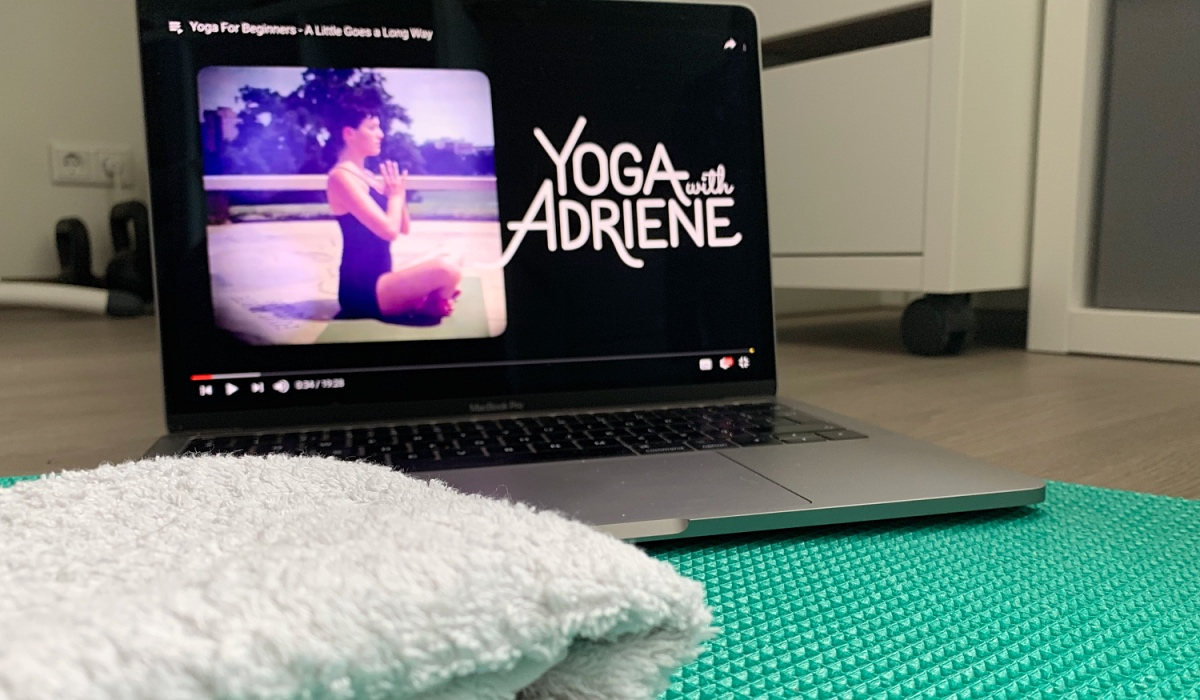 YouTube-yoga voor beginners
