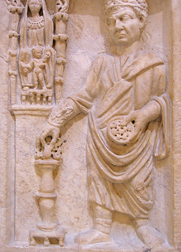 priest sacrificing to Cybele