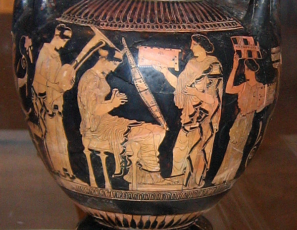 Image result for women carrying red figure vase