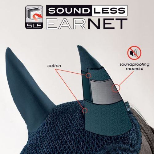 How the Equiline Soundless Ear Net works