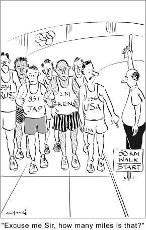 Racewalking Cartoons
