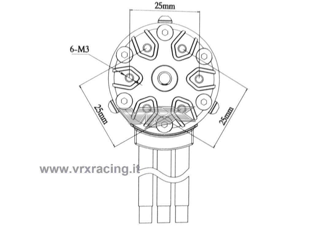 Motore Rocket SC 550 7.5T 3000KV brushless da competizione