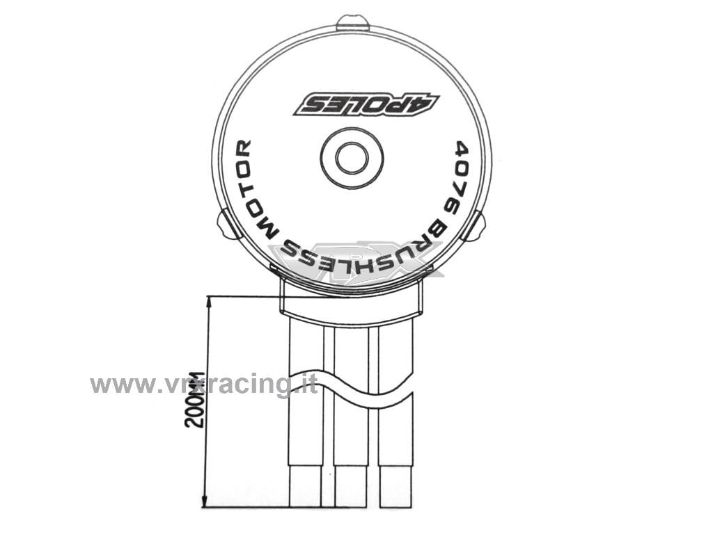 Motore Rocket 1 8 6d Kv Brushless Sensorless