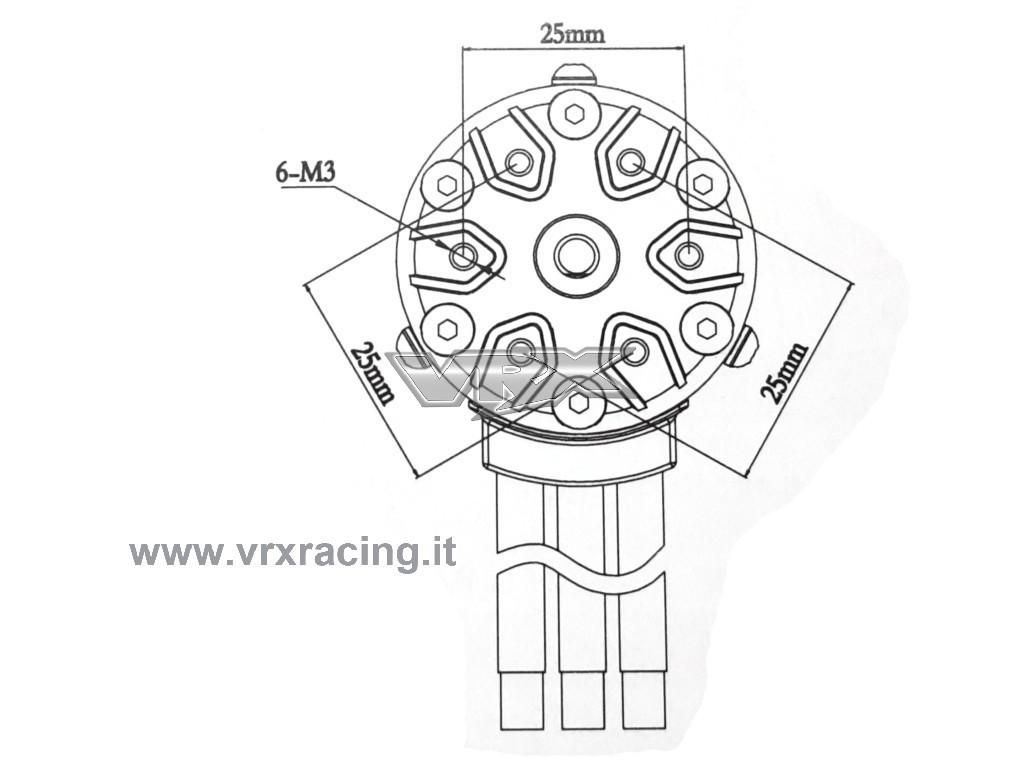 Motore Rocket 540 Kv Brushless Sensorless 1 10 Albero Motore 3 17mm