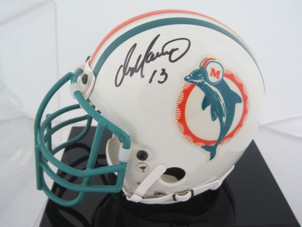 Lot Detail - Dan Marino Autographed Miami Dolphins Mini Helmet Withdisplay Case Uda