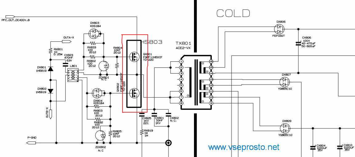Схема samsung ps42a451p1