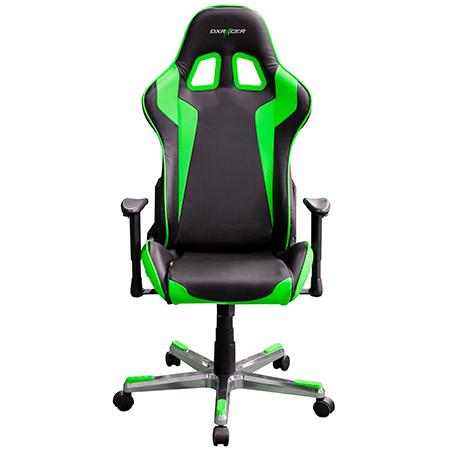 Silla Gaming DXRacer Negra Verde FE00  Versus Gamers