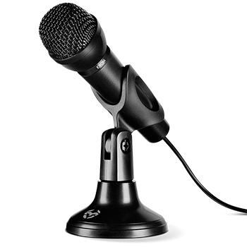 Mini Micrófono Gaming / Grabación Voz /  Omnidireccional / Base sólida y Estable / Conector Jack de 3.5mm