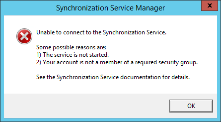 Solved] AADSync/AADConnect : Unable to connect to the
