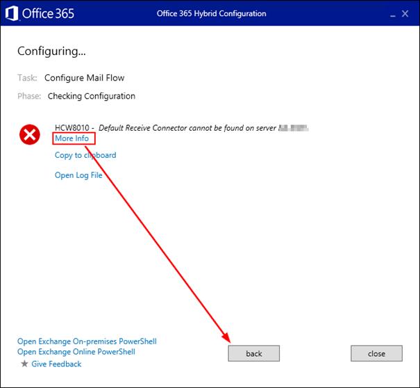 Solved] Office 365/Exchange 2013: Error during Hybrid configuration