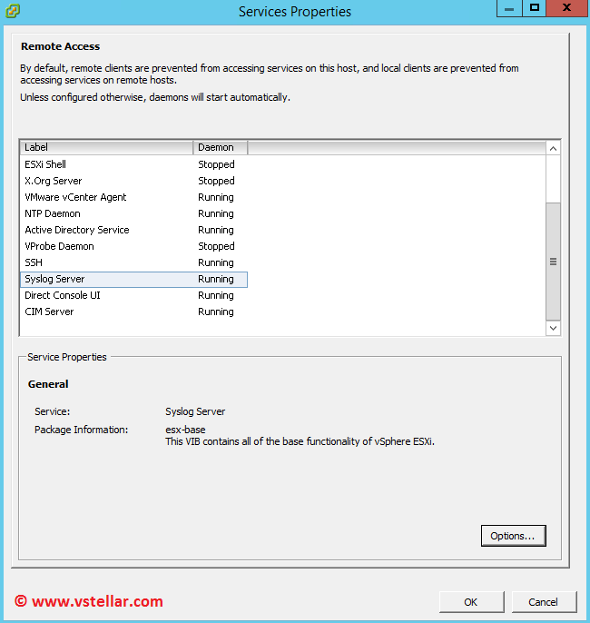 Configure Centralized Logging on ESXi 6 Hosts