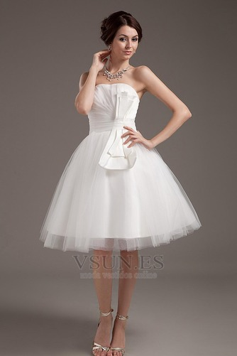 Vestido de novia Romántico Corte princesa Hasta la Rodilla Tallas pequeñas - Página 1