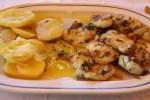 Рыба-черт в чесночном соусе