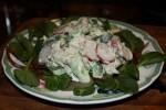 Куриный салат с лимонно-укропным майонезом