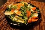 Овощной салат с маринованной морковкой